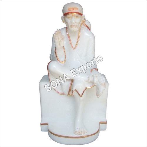Pure white marble Saibaba Statue