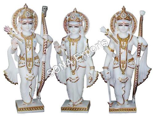 White Sangmarmar Ram Darbar murti statue