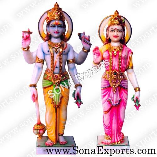 Marble Laxmi Narayan Statues
