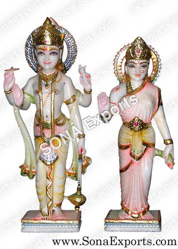 Marble Satyanarayan Statue