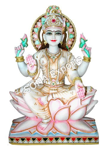 Marble Laxmi Sculpture
