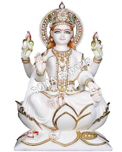 White marble Laxmi Statue