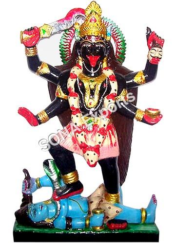 Black marble maha Kaali Statue