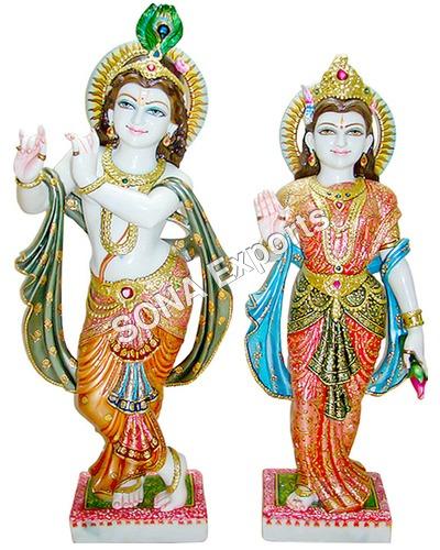 Makrana Marble Radha Krishna Statue manufacturer