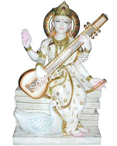 Makrana marble Saraswati Murti