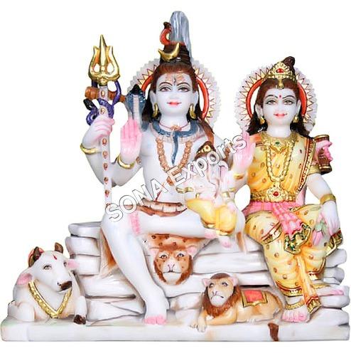 Marble Bhole Shankar parvati moorti