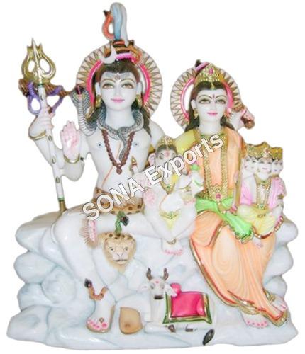 Marble Shiva Parvati Statues