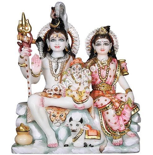 Marble Mata Parvati  Shankar Ji murti