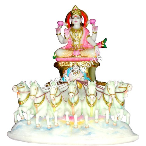 Marble Surya Statue