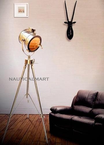 Replica Chrome Spotlight Studio Search Light Tripod Floor Lamp For Living Room