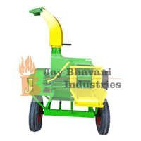 Blower type chaff cutter with trolley