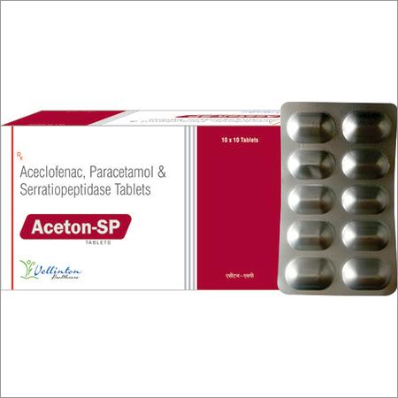 Aceclofenac Paraetamol Serratiopetidase Tablet