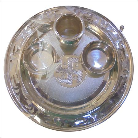 Silver Arti Thali