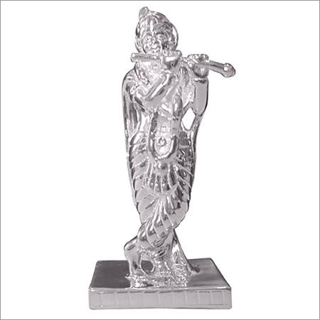 Silver Krishna Statue