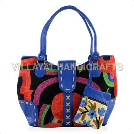 Suede Leather Ladies Handbag