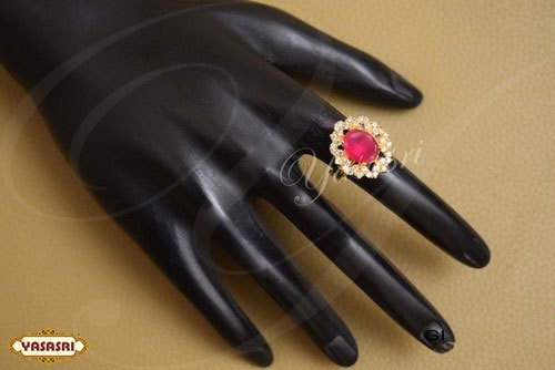 Ruby Stone Finger Ring