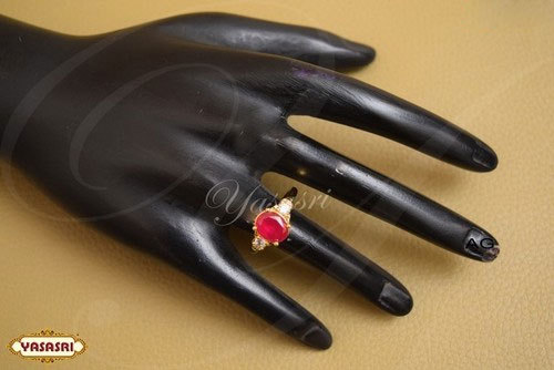 Ruby Stone Design Finger Ring