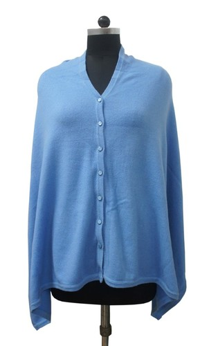 RIB Knitted Cashmere Poncho