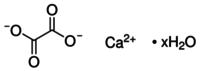 Calcium oxalate monohydrate