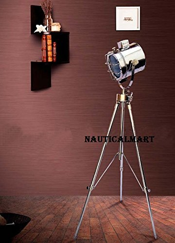 Marine Nautical Spotlight Searchlight Tripod Floor Lamp Lighting Stand For Living Room