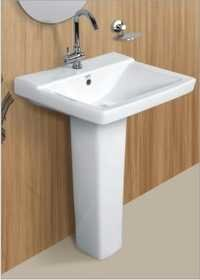 Ceramic Wash Basin and Pedestal