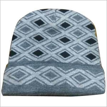 Check Woolen Caps