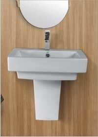 Wash Basin with Half Pedestal
