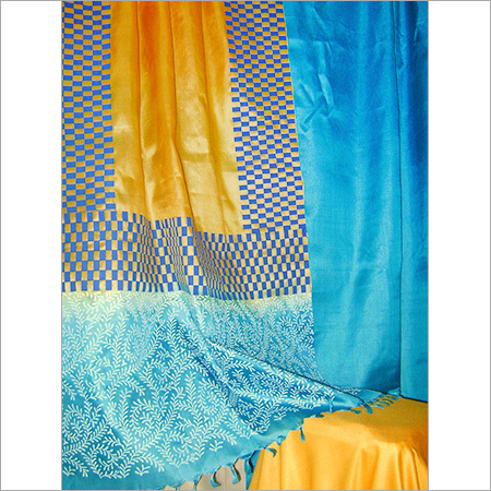 Tussar Silk Unstitched Dress Material