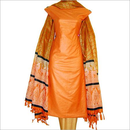 Unstitched Silk Salwar Kameez Material