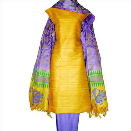 Tussar Silk Unstitched Dress Materials
