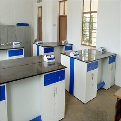 Blue And White School & College Lab Furniture
