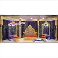 Royal Wedding Reception Stage Furniture