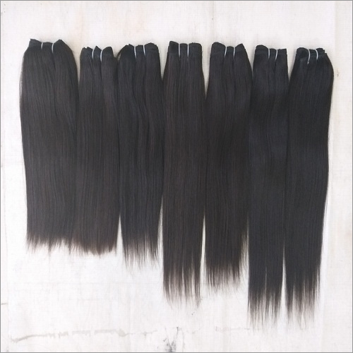 Raw Single Donor Straight Temple Human Hair