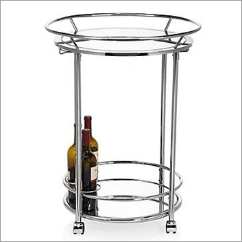 Glass Display Round Table