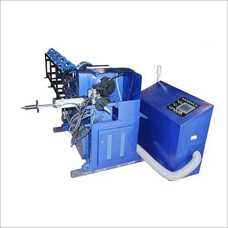 Blue Cnc Automatic Lathe Pipe Cutting Machine