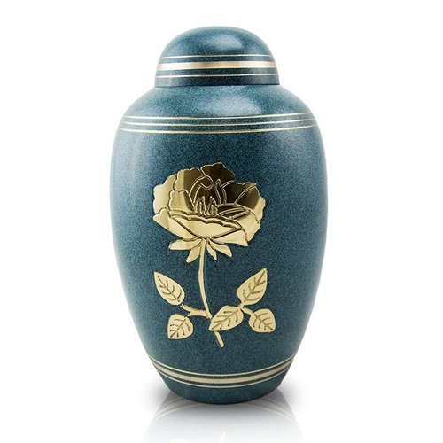 Golden Rose Brass Urn