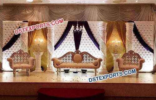 Modern Reception Wedding Stage Decoration