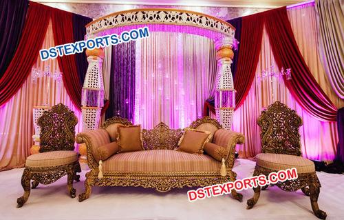 Pakistani Nikah Wedding Stage Furniture
