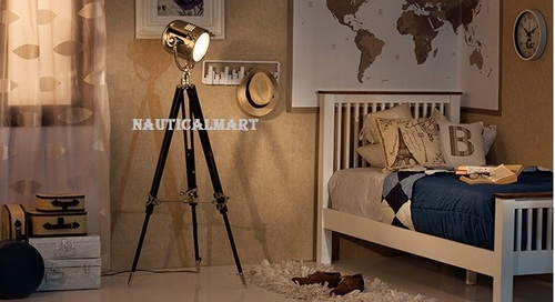 Nautical Marine Spot Search Light  Floor Lamp For Living Room