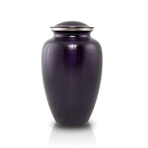 Violet Brass Cremation Urn