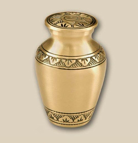 Classic Bronze Engraved Cremation Urn