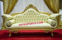 Golden Royal Wedding Stage Couch