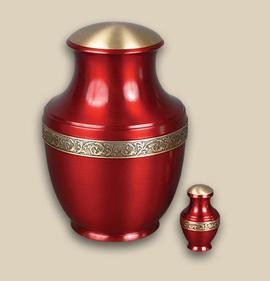 Sapphire Brass Cremation Urn