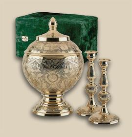 Elegant Brass Memorial Urns