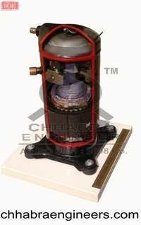 Cut Sectional Model of Scroll Compressor