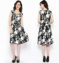 Bedazzle Women's Sheath Black Dress