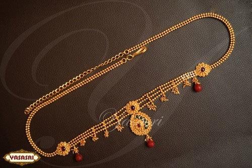 Ruby Stone Flower Design Belt