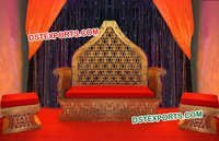 Royal King Golden Carved Furniture