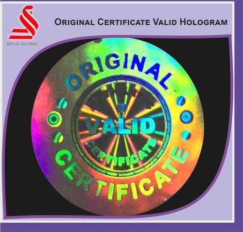 Original Certificate Valid Labels