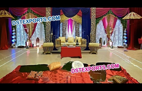 Pakistani Wedding Mehandi Stage Decoration